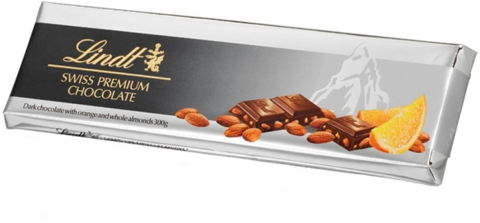 Lindt Silver Dark Orange Almond 300g