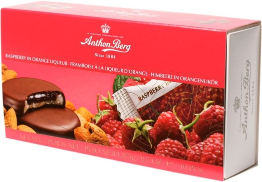 Anthon Berg Rasberry in Orange Liqueur Chocolates 220g