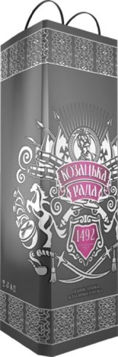 Kozatska Rada Classic vodka, souvenir 0.7L