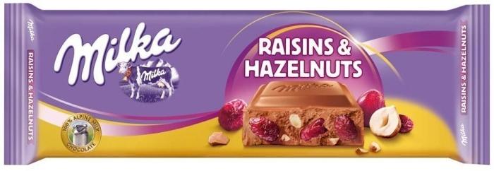 Milka Raisin and Hazelnuts 300g