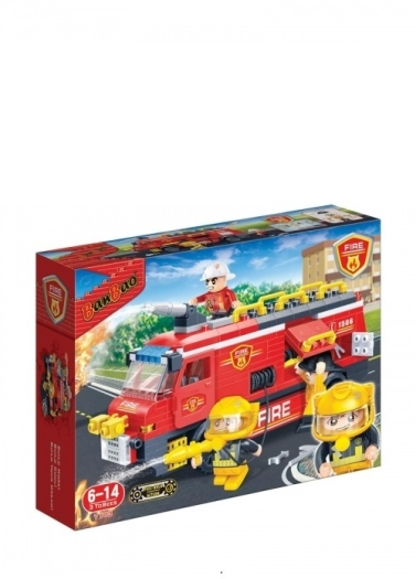 Banbao Fire - Fire Rescue Team Building Bricks 725g 725g