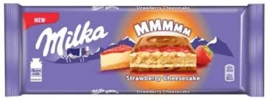 Chocolate Milka strawberry with cheesecake 300G