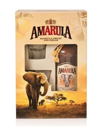 Amarula Onpack 1L + 2 glasses
