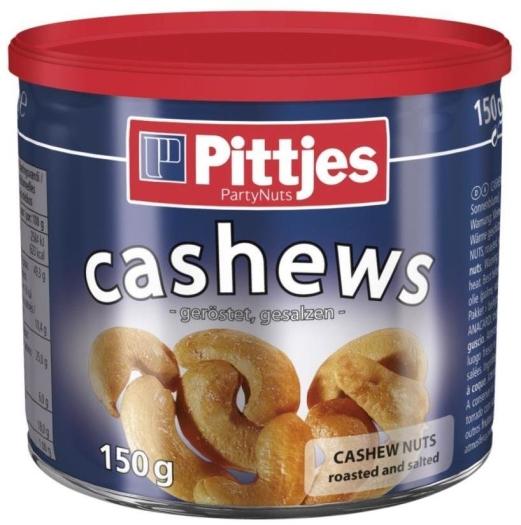 Pittjes Cashews Dry Roasted 125g