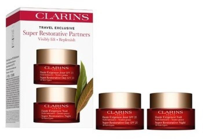 Clarins Travel Sets Super Restorative Partners SPF 15 Set: Day Cream SPF 20 AST 50ml+Night Cream AST 50ml
