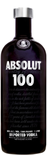 Absolut Vodka 100 1L