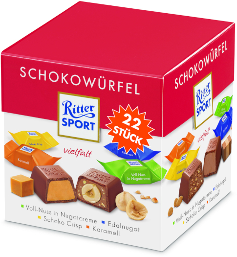 Ritter Sport Chocolate cubes