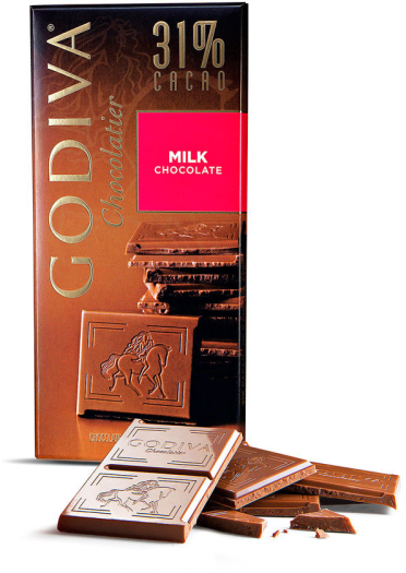Godiva Tablet Milk Chocolate 100g
