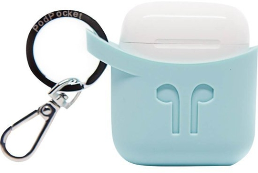 PODPOCKET- Airpods Case Aqua Blue