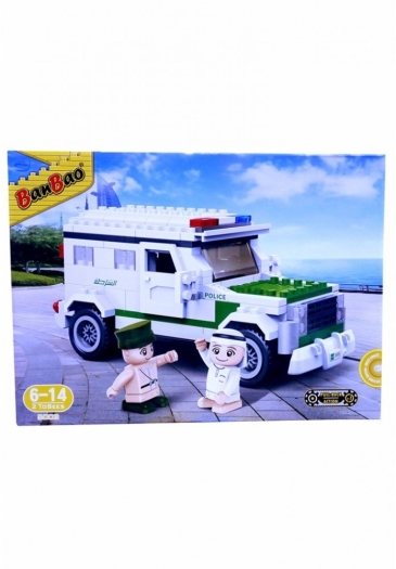 Banbao Arabic Line - Police Car Building Blocks 630g 630g