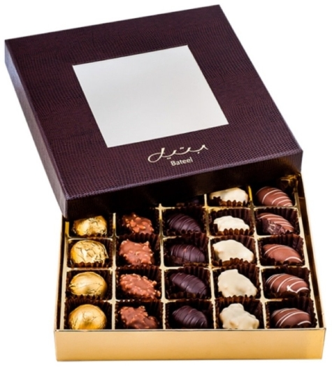 Bateel Brown Leather Chocolate Dates Large 260g