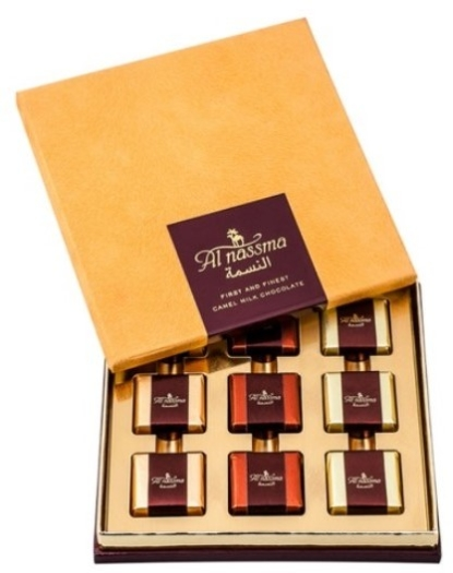 Al Nassma 9pc Assorted Praline Gift Box 9x10g