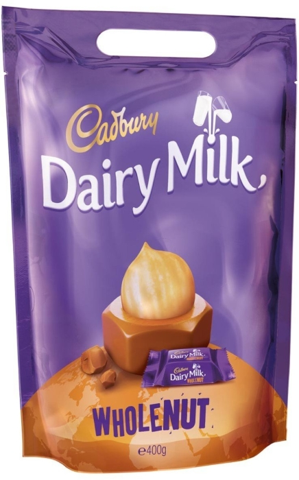 Cadbury Dairy Milk Whole Nut Chunks Pouch 400g