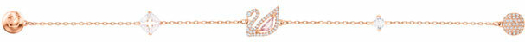 Swarovski Dazzling Swan Bracelet, Multi-colored, Rose Gold Plating select Size
