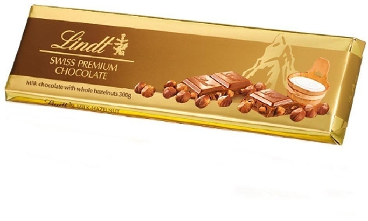Lindt Milk Chocolate with Hazelnuts 300g