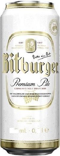Bitburger Premium Pils Beer 4.8% 0.33L