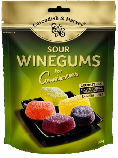 Cavendish&Harvey Sour Winegums for Connoisseurs