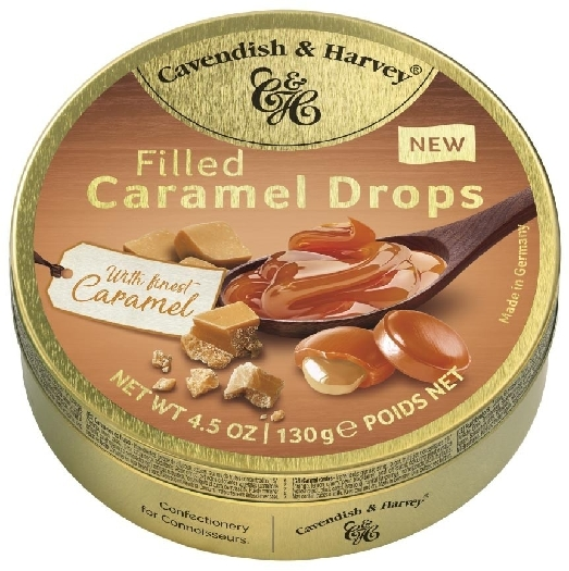 Cavendish&Harvey Caramel Drops Filled With Finest Caramel 130g