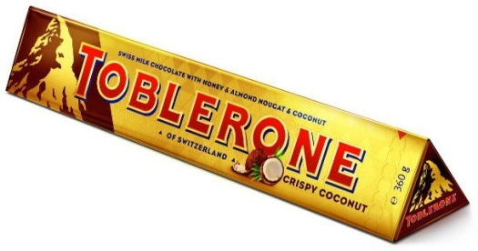 Toblerone Crispy Coconut 360g