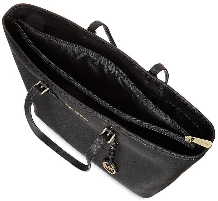 Michael Kors Jet Set Travel Saffiano Leather Top-Zip Tote