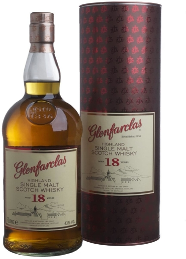 Glenfarclas 18 Year Old Whiskey 43% 1L