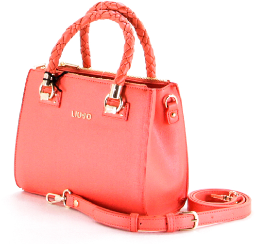 Liu Jo with braided handles Сoral bag