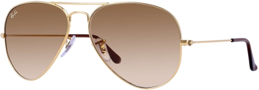 Ray-Ban Metal Aviator Gold Brown Sunglasses
