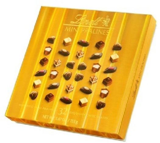 Lindt Mini Pralines Box Gold 155G