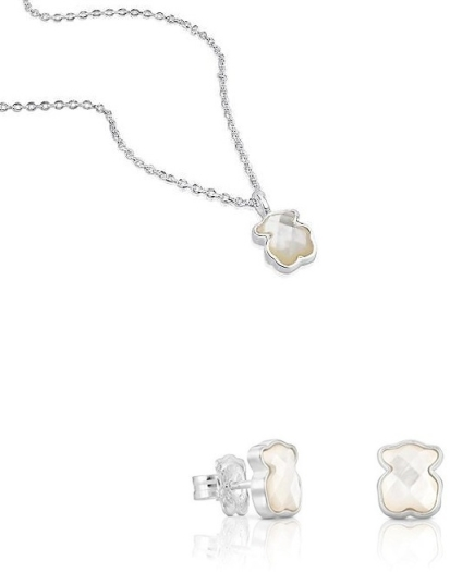 Tous Necklace + Ear Set