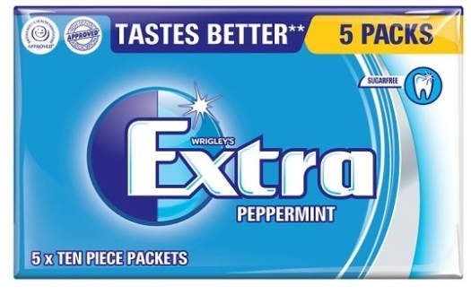 Wrigley's Extra Peppermint 5-pack 70g