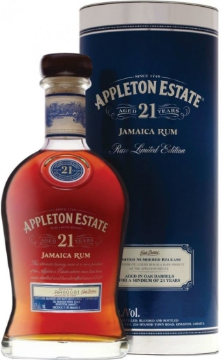 Appleton Estate 21 Year Old Rum 43% Tube 0.7L