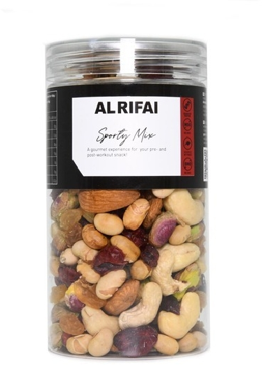 Al Rifai Mix of raw nuts, roasted soy beans and dried fruits 170 g
