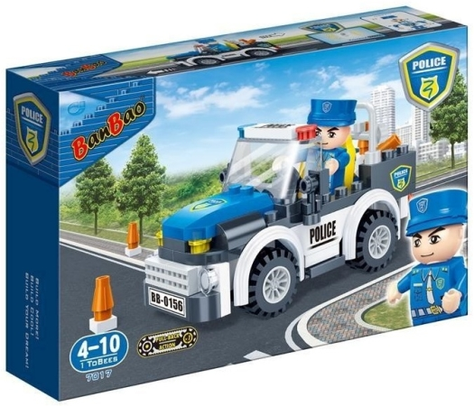 Banbao Police - Police Car Building Bricks 560g 560g