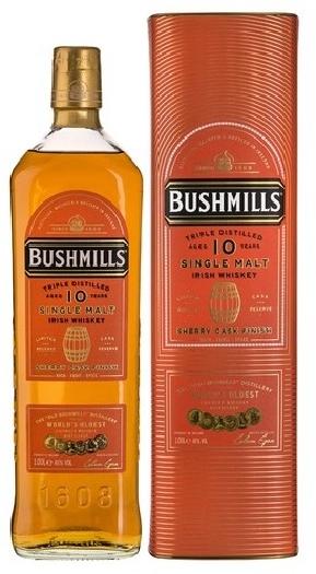 Bushmills 10y Sherry Cask 46% Giftpack 1L