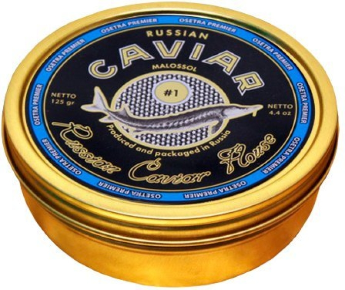 Russian Caviar House Premier Sturgeon Caviar Black 125g