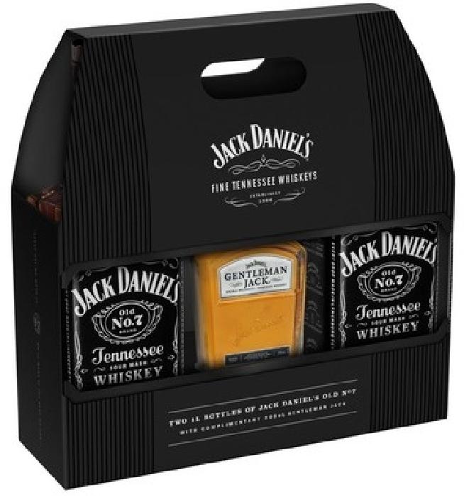 Jack Daniel's B.40% 2x1L+ 0.2L GJ*