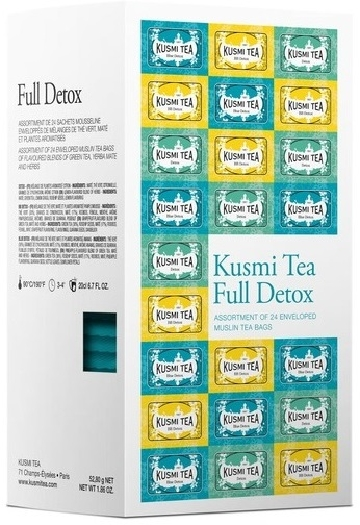 Kusmi Tea Full Detox Selection Of 24 Teabags 52.8g