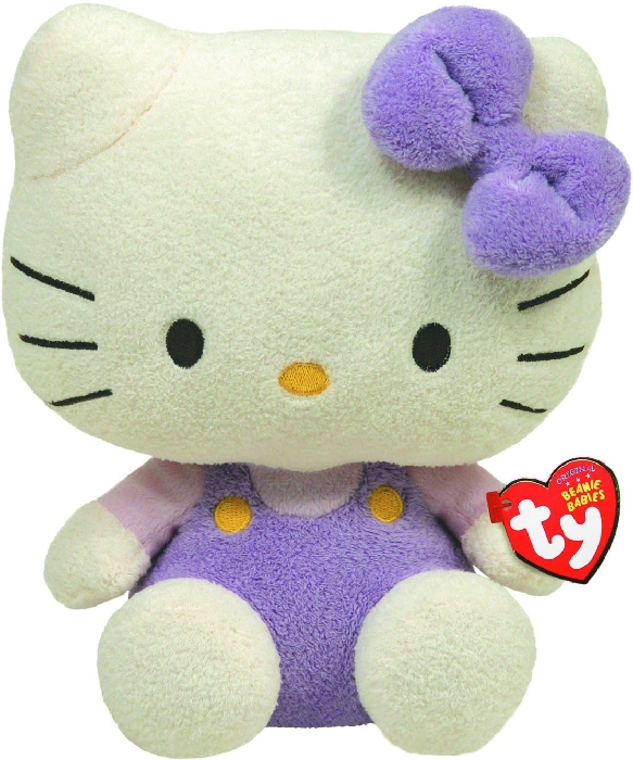 TY Hello Kitty Overall Lavendel 15cm