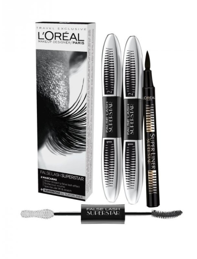 L'Oreal Duo False Lash Superstar Set 2x7ml+4g