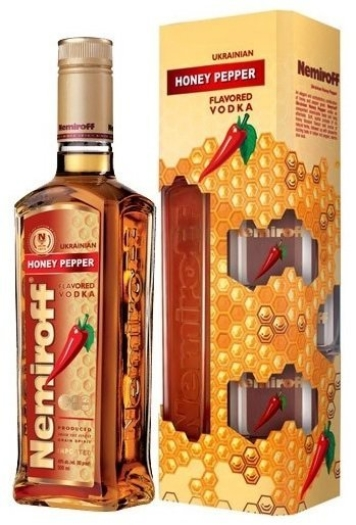Vodka Nemiroff Honey Pepper Gift Set 0.7L