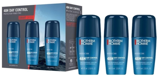 Biotherm Homme Day Control Deodorant Roll-on Trio Set 3x75ml