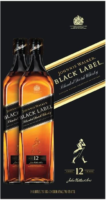 Johnnie Walker Black Label 40% Twinpack 2x1L