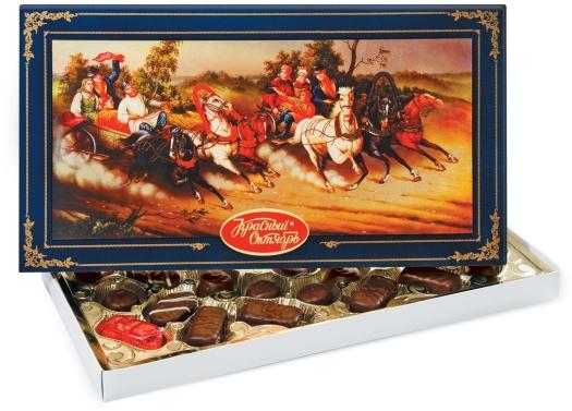 Krasny Oktyabr Russian Troika Chocolates 350g