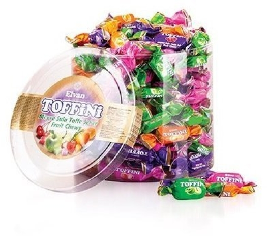 Elvan Toffini Center Filled Soft Candy 800g