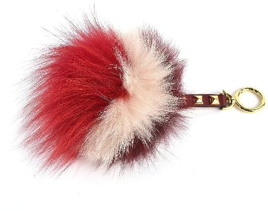 Michael Kors Mk Charms Fur Key Fob Crimson&Pink&Red