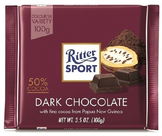 Ritter Sport Dark Chocolate 50% 100g