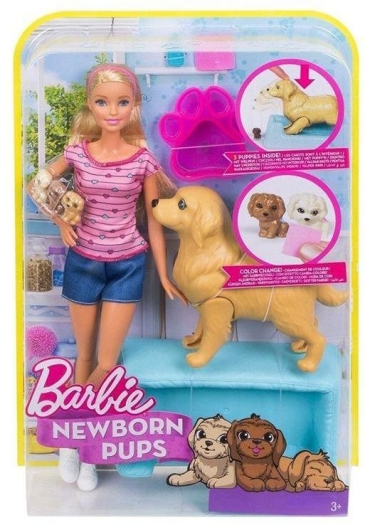 Barbie Newborn Pups Doll Pets