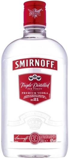 Smirnoff Red Flask PET 40% 0.5L