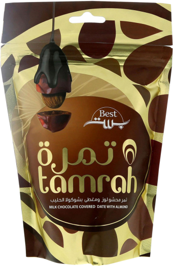 Tamrah Almond Stuffed Dates in Milk Chocolate 250g