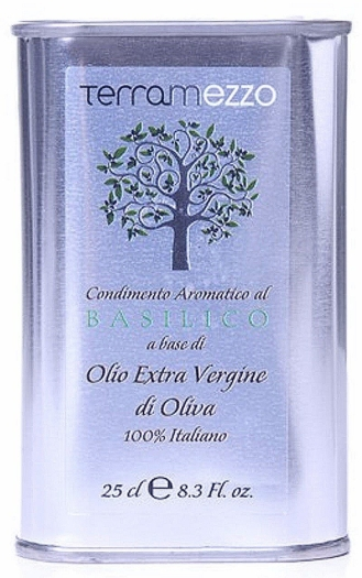 Terramezzo 100% Italian Extra Virgin Olive Oil with Basil 250ml